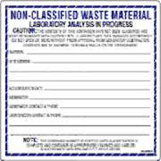 Preview of Non-Classified Waste Material Label