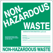 Preview of Non-Hazardous Waste Label