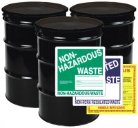 Field Supplies Drums & Labels - 55 Gallon Drums, Hand Pumps; Labels (Safety, Shipping, Custom)