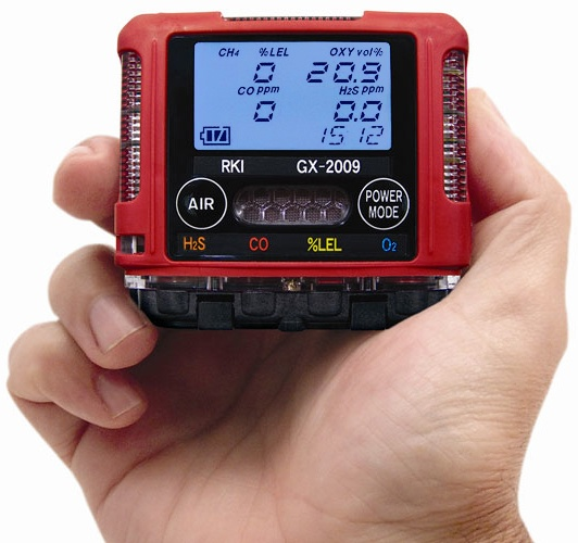 4 Gas Meter : Gx by rki instruments personal gas monitor best